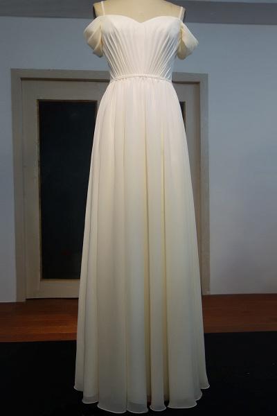 JOCELYN   A-line Spaghetti Sweetheart Floor Length Ruffled Ivory Chiffon Prom Dresses_1