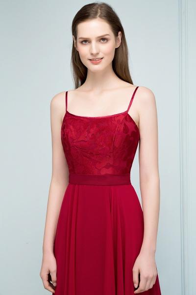 Sleek Bateau Chiffon A-line Evening Dress_6
