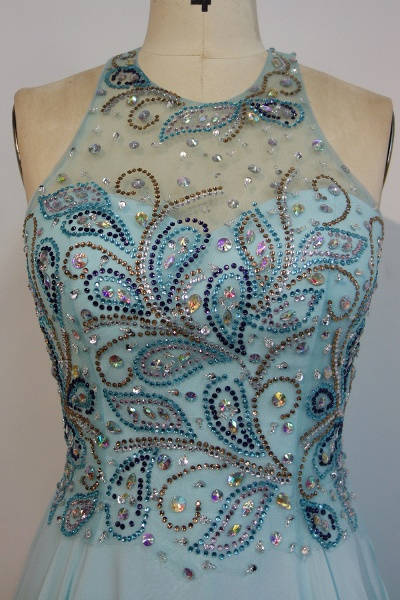 JENNIFER   A-line Sleeveless Crew Long Crystal Beading Chiffon Prom Dresses_4