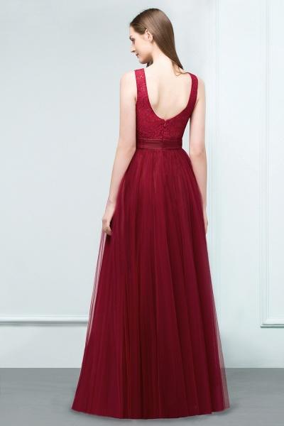 Elegant Straps Tulle A-line Evening Dress_3