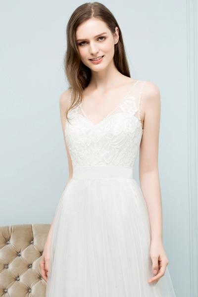 Fabulous V-neck Tulle A-line Evening Dress_6