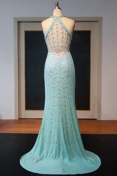 JOHANNA | Sheath Halter Floor Length Sequined Back Prom Dresses_3