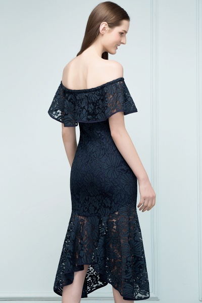Affordable Off-the-shoulder Lace Mermaid Evening Dress_4