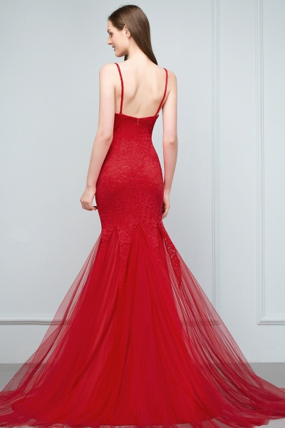 Chic Jewel Tulle Mermaid Evening Dress_4
