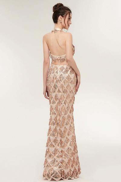 Chic Halter Chiffon Mermaid Evening Dress_8