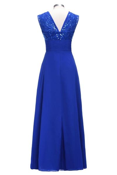 VICKI | A-line Sleeveless Crew Long Sequined Lace Chiffon Bridesmaid Dresses_3