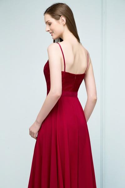 Sleek Bateau Chiffon A-line Evening Dress_7