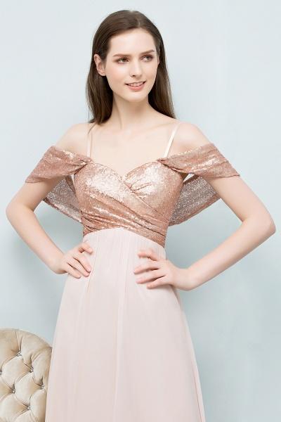 Chic Off-the-shoulder Chiffon A-line Evening Dress_9