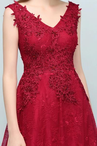 Affordable V-neck Tulle A-line Evening Dress_10