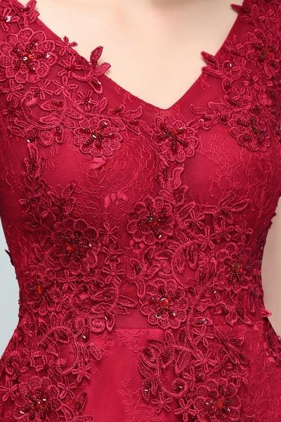 Affordable V-neck Tulle A-line Evening Dress_9