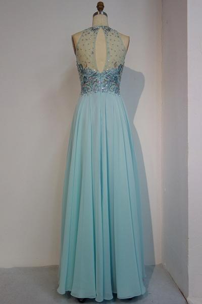 JENNIFER   A-line Sleeveless Crew Long Crystal Beading Chiffon Prom Dresses_3