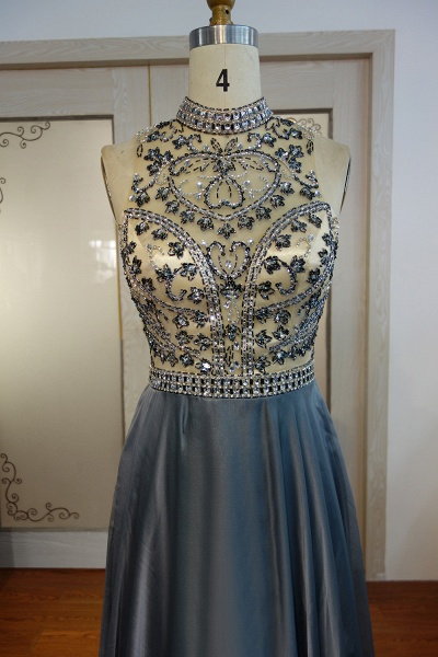 JESSICA   A-line Halter Floor Length Crystal Beading Chiffon Prom Dresses_4