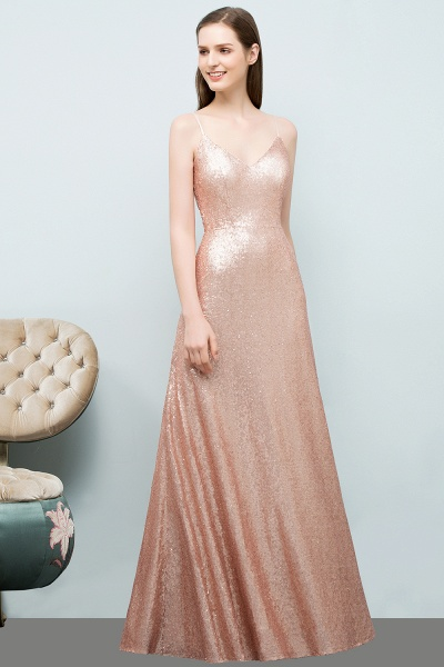 Excellent Sweetheart Sequined A-line Evening Dress_5