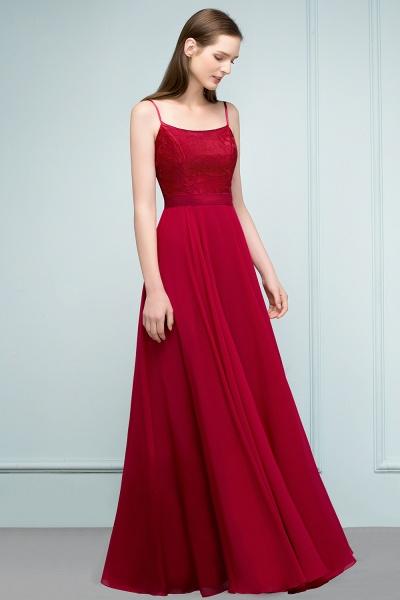 Sleek Bateau Chiffon A-line Evening Dress_9