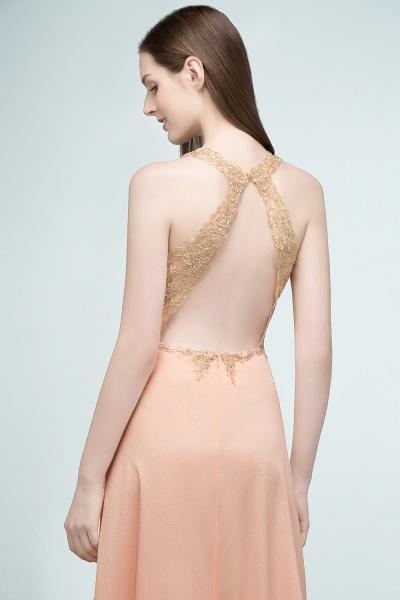 Excellent V-neck Chiffon A-line Evening Dress_9