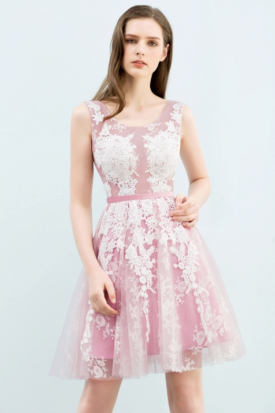 Elegant Appliques Tulle A-line Homecoming Dress_1