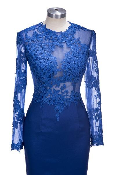 VICKIE | Mermaid Floor Length Illusion Top Long Sleeves Lace Prom Dresses_5
