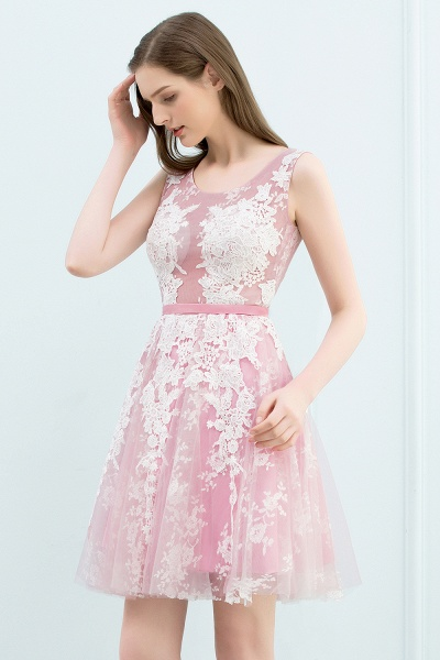 Elegant Appliques Tulle A-line Homecoming Dress_9
