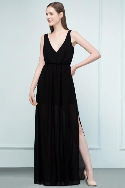 Fascinating V-neck Chiffon A-line Evening Dress_6