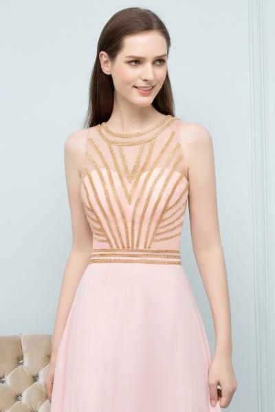 Sleek Jewel Chiffon A-line Evening Dress_3