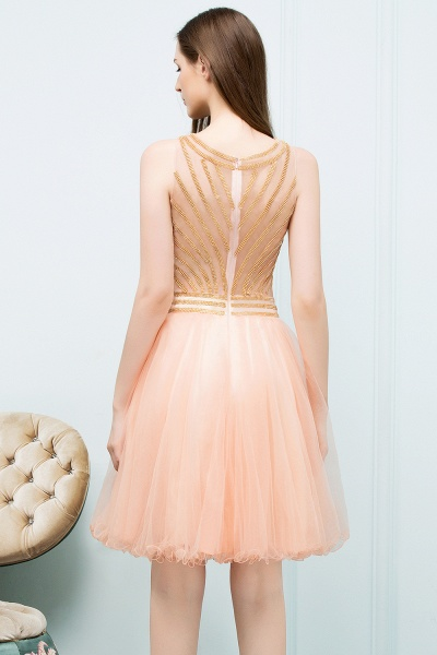 Exquisite Jewel Tulle A-line Homecoming Dress_3