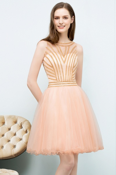 Exquisite Jewel Tulle A-line Homecoming Dress_1