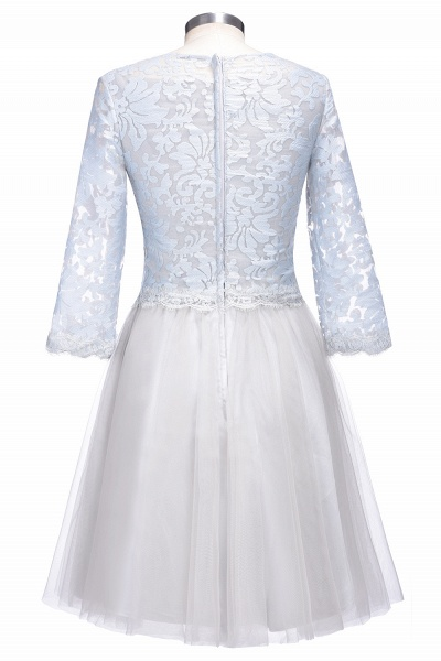 THEA   A-line Long Sleeves Short Lace Appliques Tulle Prom Dresses_3