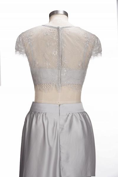VIVIEN | A-line Two-piece Floor Length Lace Top Prom Dresses_6