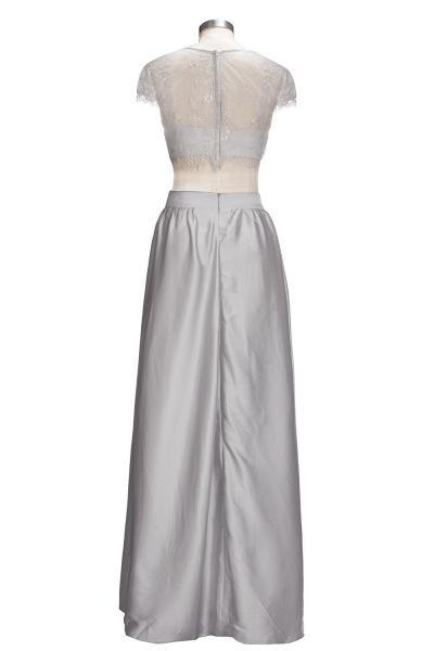 VIVIEN | A-line Two-piece Floor Length Lace Top Prom Dresses_3