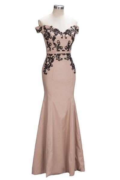 Off The Shoulder Cap Sleeves Lace Mermaid Bridesmaid Dress_5