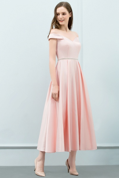 BM0829 A-Line Pink Off The Shoulder Crystal Long Bridesmaid Dress_3