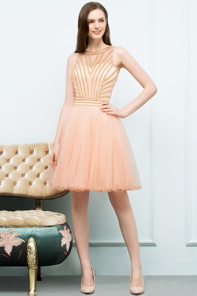 Exquisite Jewel Tulle A-line Homecoming Dress_6