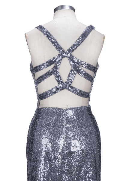 THELMA | Mermaid High Neck Long Sleeves Floor Length Appliqued Prom Dresses_6