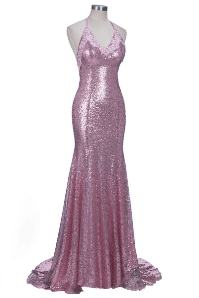 Glorious Spaghetti Straps Sequined Mermaid Prom Dress_4