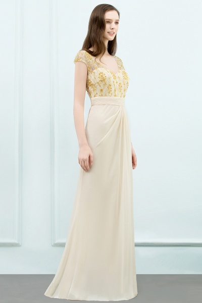 Attractive V-neck Chiffon A-line Evening Dress_9