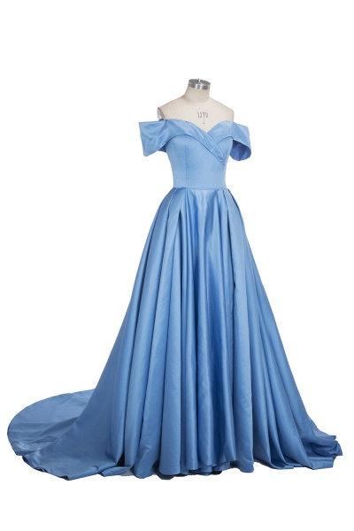 TORRIE   Ball Gown Off-shoulder Floor Length Blue Prom Dresses_8