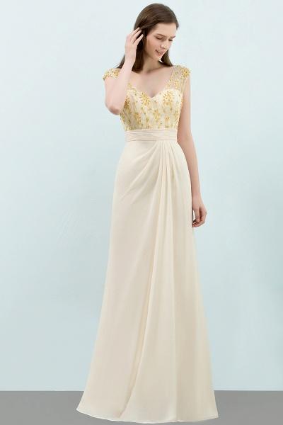 Attractive V-neck Chiffon A-line Evening Dress_7