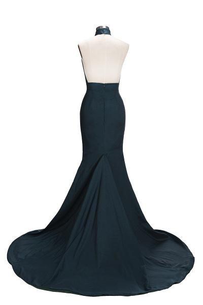 URSULA | Mermaid Halter Floor Length Hollow Front Prom Dresses_3