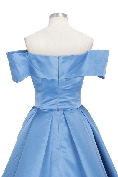 TORRIE | Ball Gown Off-shoulder Floor Length Blue Prom Dresses_7