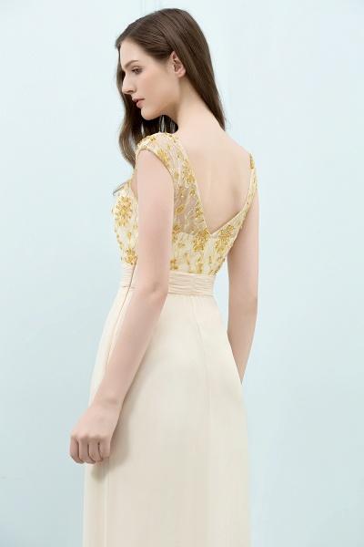 Attractive V-neck Chiffon A-line Evening Dress_3