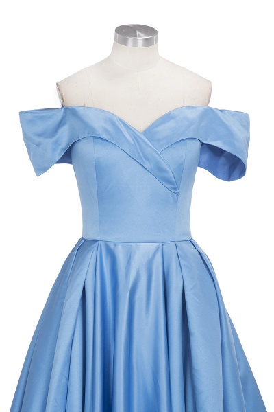 TORRIE | Ball Gown Off-shoulder Floor Length Blue Prom Dresses_9