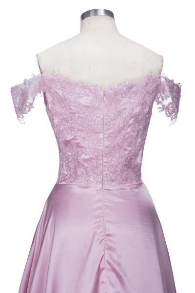 THERESA | A-line Floor Length Split Off-the-Shoulder Lace Prom Dresses_6