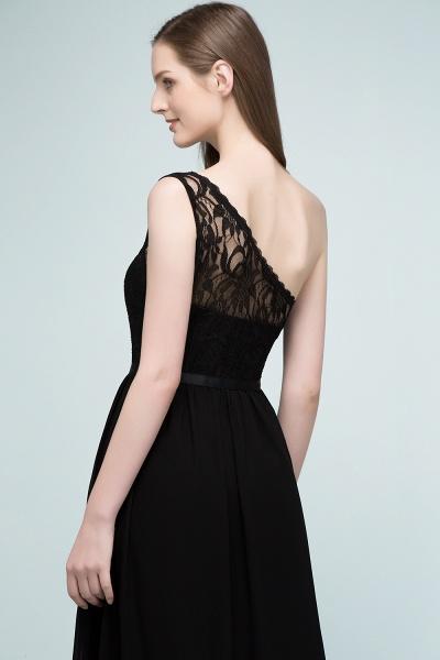 A-line Chiffon Lace One-shoulder Floor-length Bridesmaid Dress Floor Length with Sash_6
