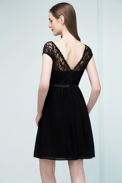 A-Line Chiffon Lace Scoop Sleeveless Knee-Length Bridesmaid Dresses_2