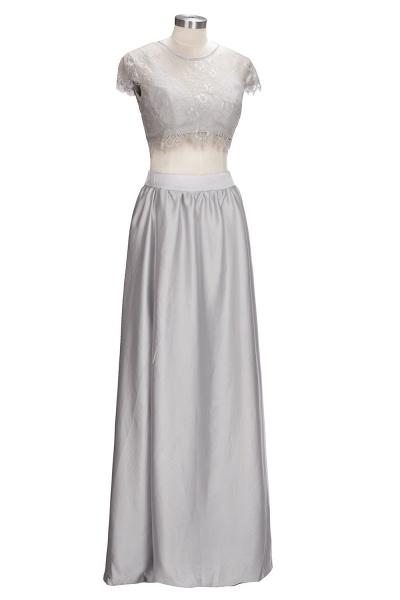 VIVIEN | A-line Two-piece Floor Length Lace Top Prom Dresses_5