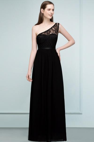 SYBIL | A-line One-shoulder Floor Length Lace Chiffon Bridesmaid Dresses with Sash_1