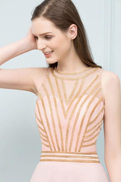 Sleek Jewel Chiffon A-line Evening Dress_7