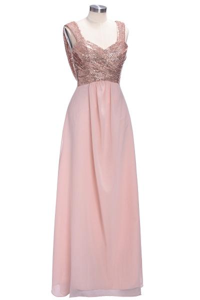 TESSIE | A-line Sweetheart Sleeveless Long Sequins Chiffon Prom Dresses_1