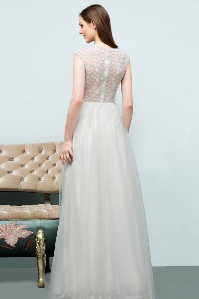 Modest Jewel Tulle A-line Evening Dress_3