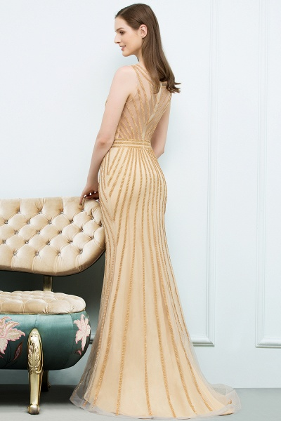Graceful Jewel Tulle Mermaid Evening Dress_2